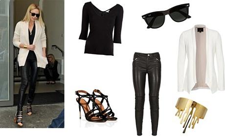 Jak nosit černé kalhoty, Zdroj: polyvore.com