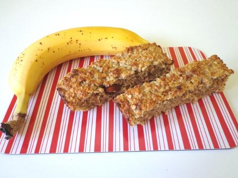 Recept na domácí flapjack banánový