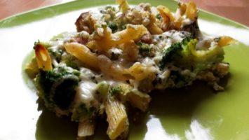 Recept na zapečené těstoviny s brokolicí