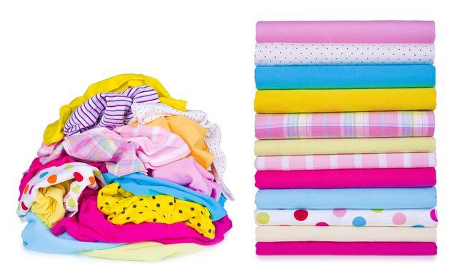 skládání prádla, jak rychle složit tričko
