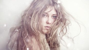 vlasy zima