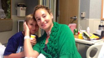 matka s rakovinou