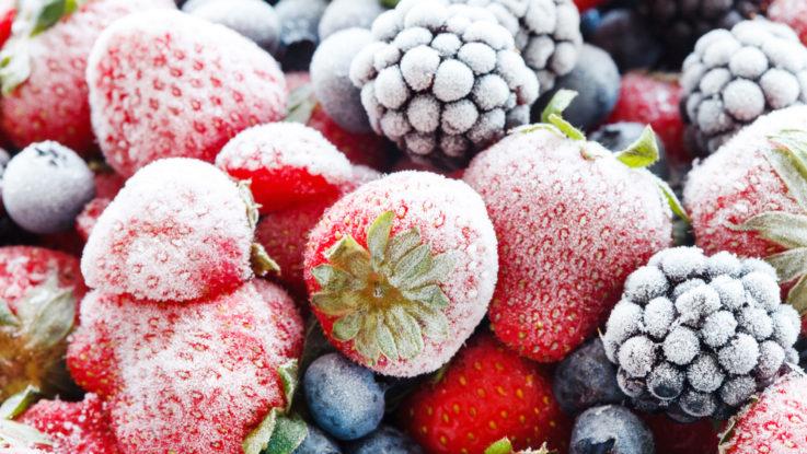 Mražené ovoce, jak skladovat potraviny