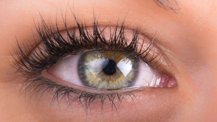 Líčení zelenohnědých očí