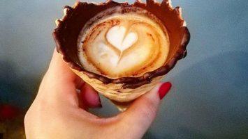 Káva v kornoutku, coffeecone