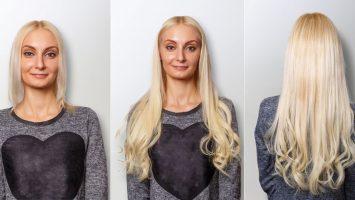 Prodlužování vlasů před a po