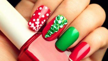 Vánoční manikúra, vánoční nehty