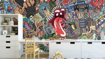 Street art v tapetách