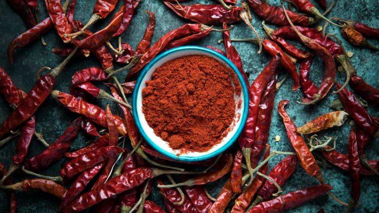 Pálivost chilli papriček