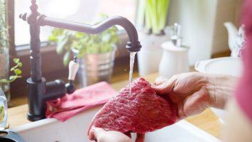 Mytí potravin a mytí masa