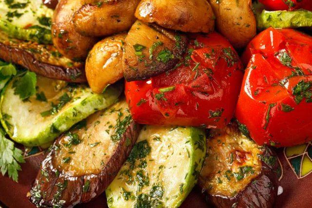 Pečená zelenina s brambory