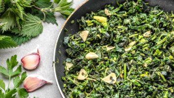 Recept na kopřivový špenát