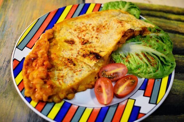 Pikantní quesadilla s fazolemi